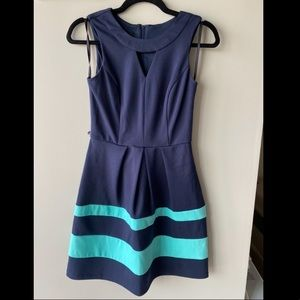 Navy Blue fit and flare dress